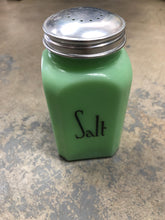 Load image into Gallery viewer, Vintage Green Jadeite Salt Shaker