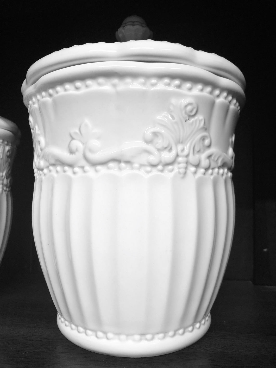 Ceramic White Containers