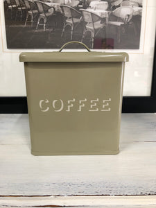 Tin Coffee Canister