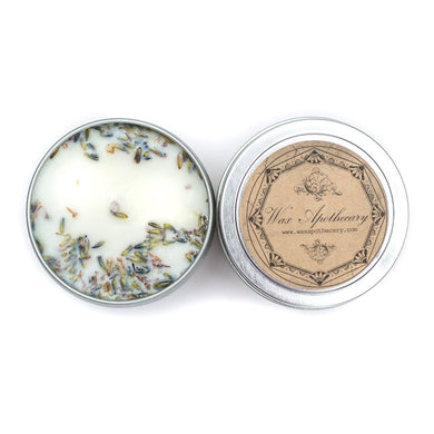 French Lavender 4oz Botanical Candle Travel Tin