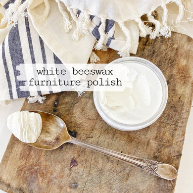 Beeswax Furniture Polish - White