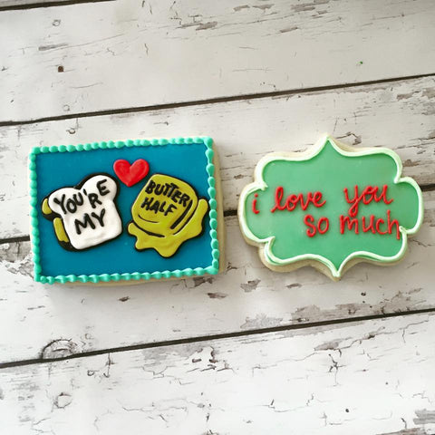 Custom cookies from Hayley Cakes