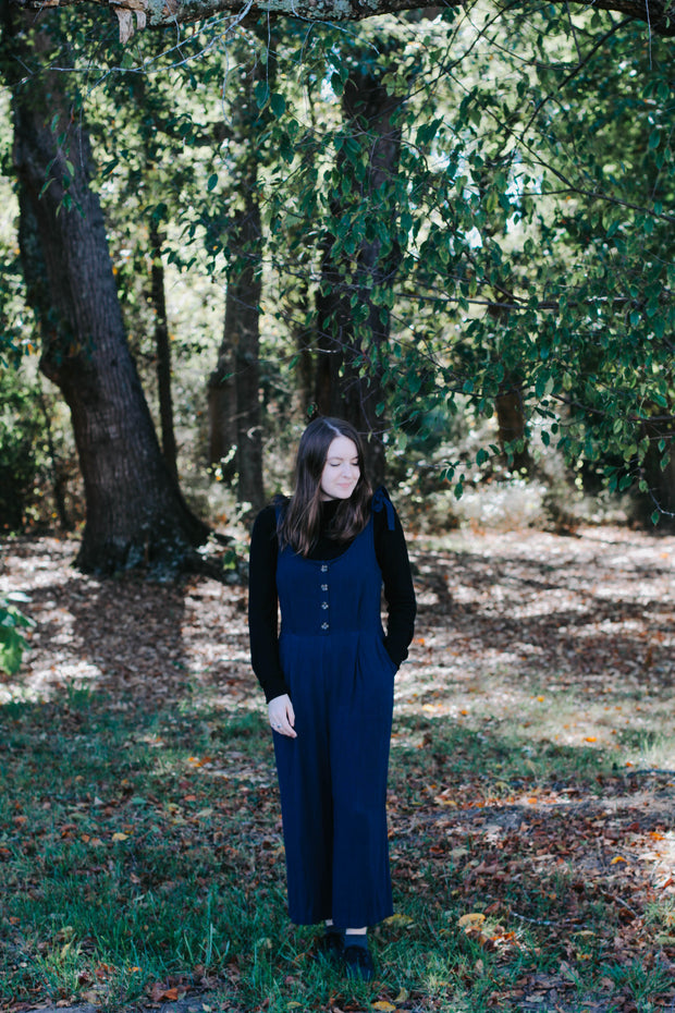 Brandi Tie Strap Jumpsuit In Navy