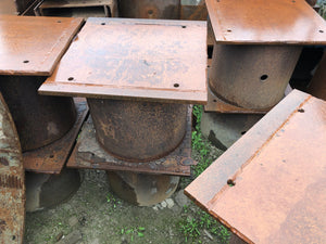 "26"" Round Pile welded to Steel Plate"