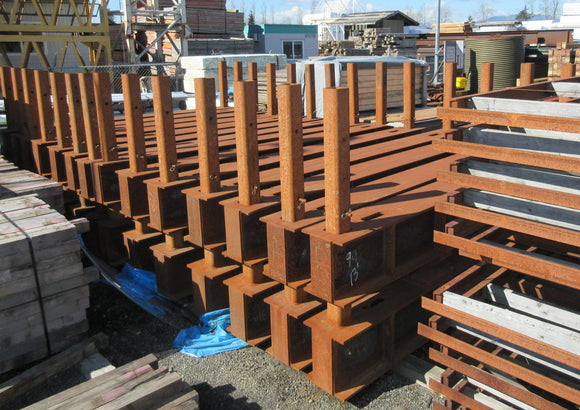 5 X 5 H.S.S. Posts welded to 13' beams