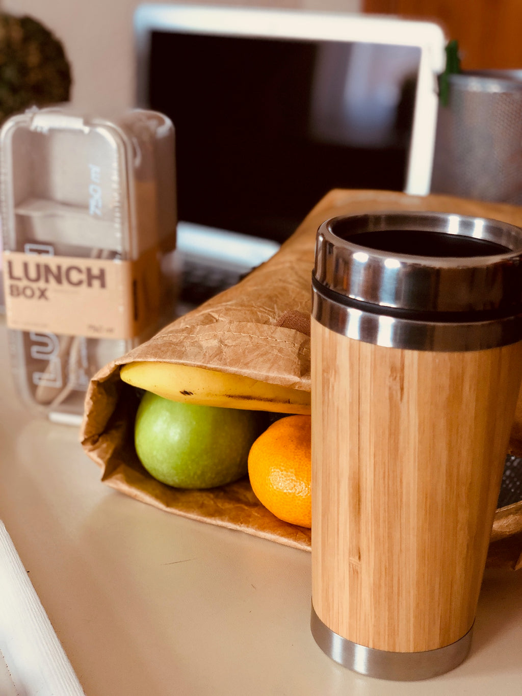 Bamboo Insulated Coffee Cup - Zest Style