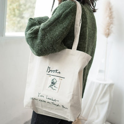 Stylish Cotton Tote Shopping Bag - Zest Style