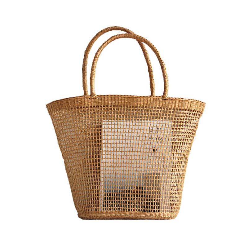 Casual Woven Straw Shopping/Beach Bag - Zest Style