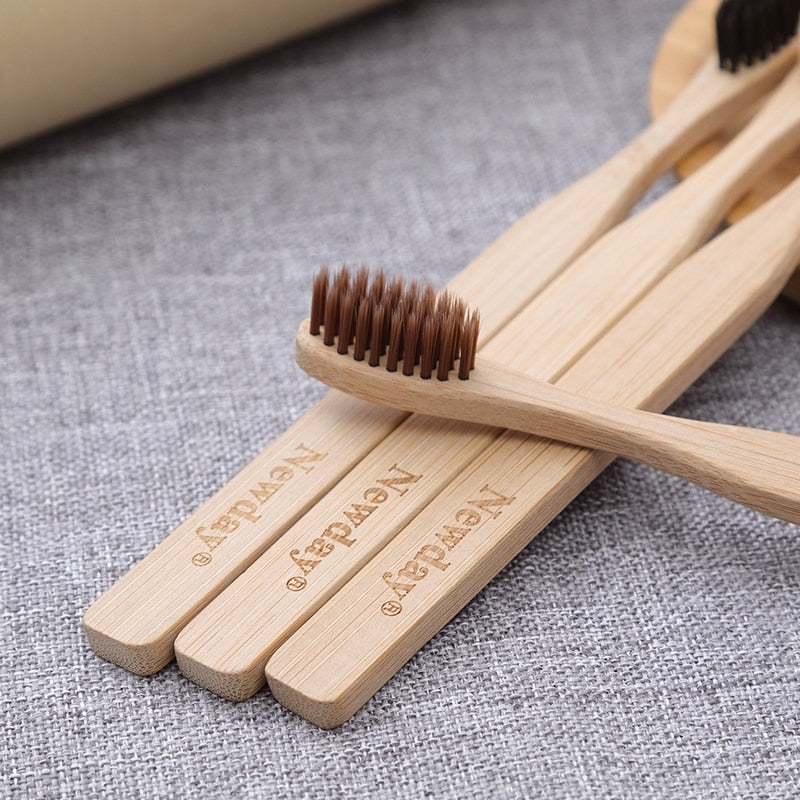 Bamboo Toothbrush (Set of Four) - Zest Style