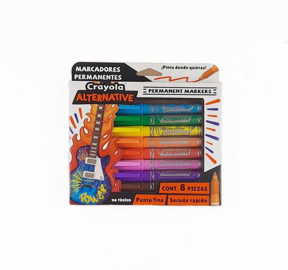 Caja c/8 Marcadores Permanentes Alternative Crayola