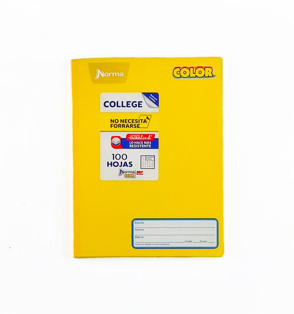 Cuaderno College Norma Color Cuadros