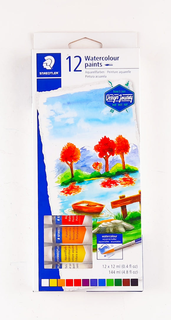 Caja c/12 Tubos Watercolour Paints Staedtler