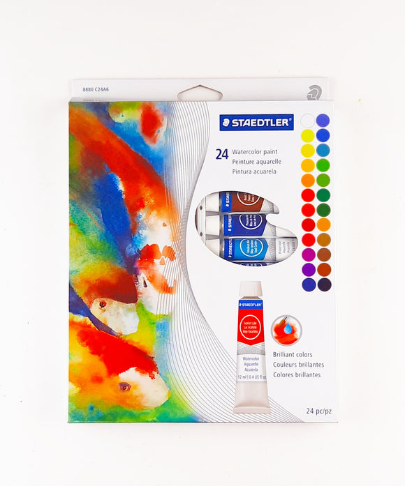 Caja c/24 Watercolor Paint Aquarelle Staedtler
