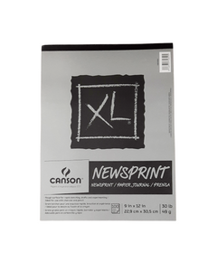 Block Canson XL Newsprint 22,9x30,5 cm. 49g.