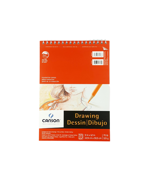 Block Canson Drawing 22,9x30,5 cm. 115g.