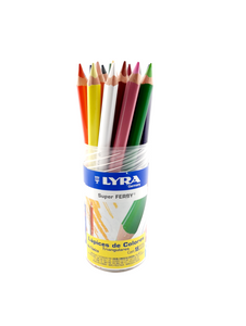 Bote c/18 Colores Lyra Super Ferby Triangulares
