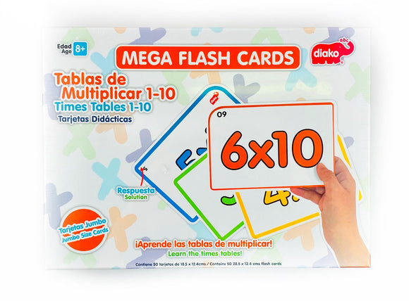 Mega Flash Cards Tablas de Multiplicar BU-F6994