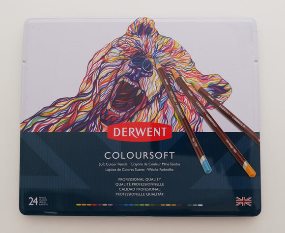 Estuche Con 24 Lapices De Colores Coloursoft Derwent