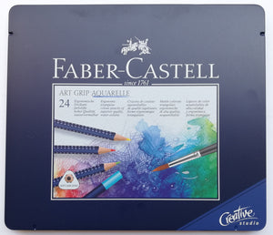 Estuche Con 24 Lápices De Colores Art Grip Aquarelle Faber
