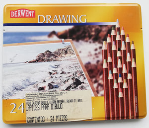 Estuche Con 24 Lapices De Colores Drawing Derwent