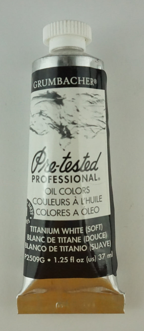 Tubo De Óleo Grumbacher 37ml Blanco
