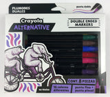 Set c/8 marcadores doble punta Crayola Alternative