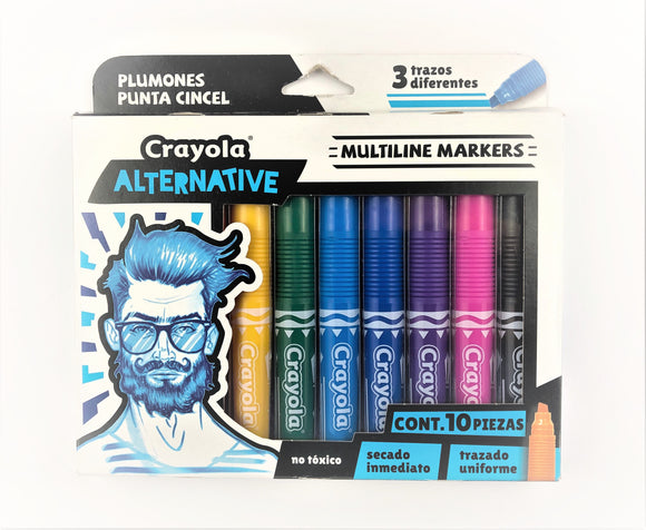 Set c/10 marcadores Crayola Alternative