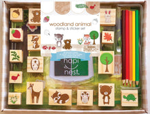Load image into Gallery viewer, Woodland Stamp & Sticker Set