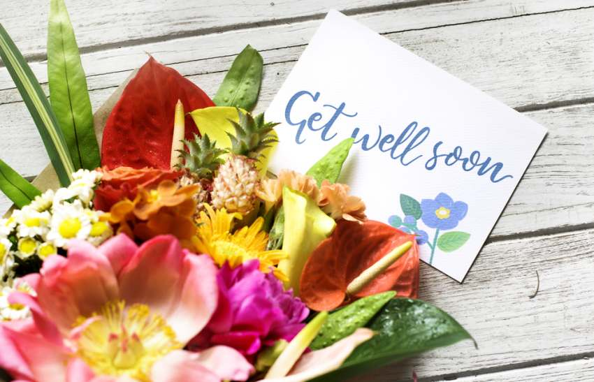 What flowers say 'get well' best?