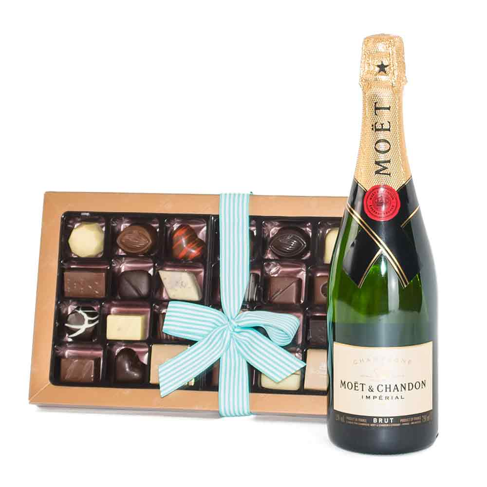 Premium Champagne and Chocolates