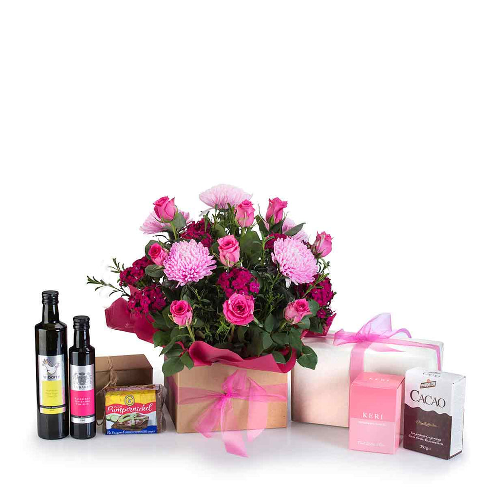 Pink Lilac Rose gift package