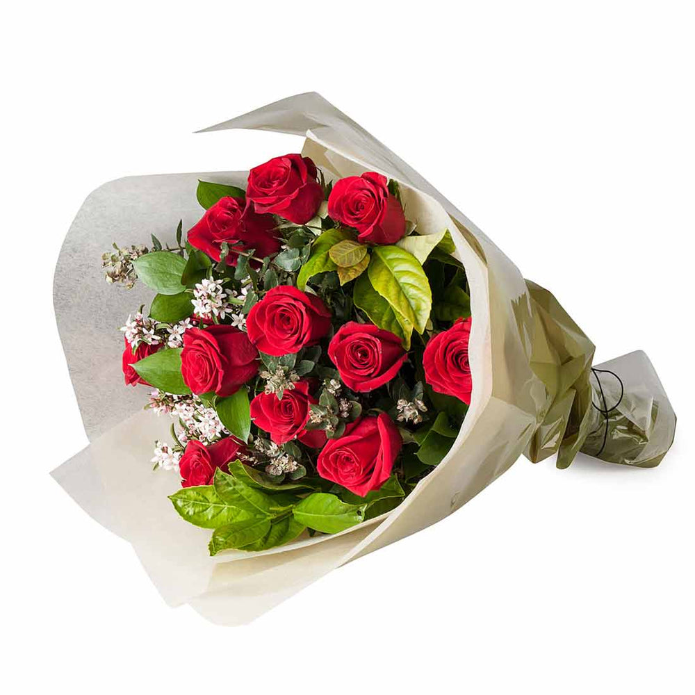 Dozen Red Rose Bouquet - Click For Flowers