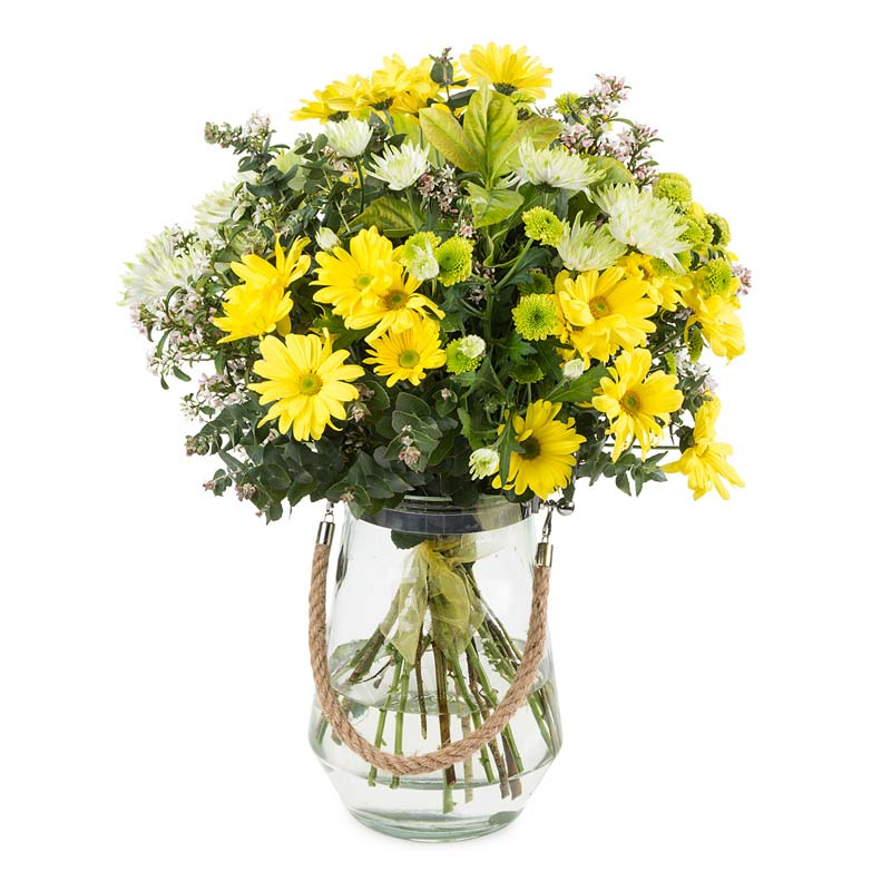 Yellow Chrissie Vase - Click For Flowers