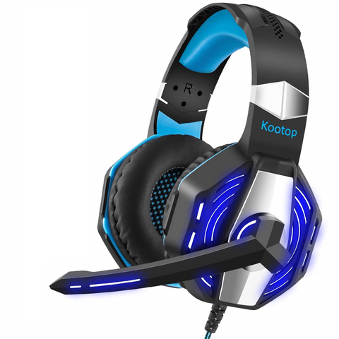 Kootop Stereo Gaming Headset with Noise Cancelling Mic