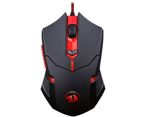 Redragon M601 Wired Gaming Mouse, Programmable 6 Buttons, 3200 DPI with Red LED