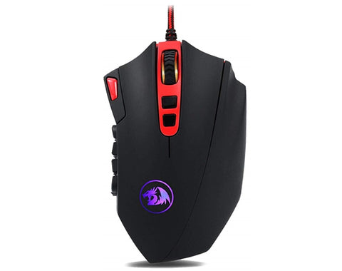 Redragon M901 Gaming Mouse Wired, RGB 24000 DPI, Laser, 18 Programmable Buttons