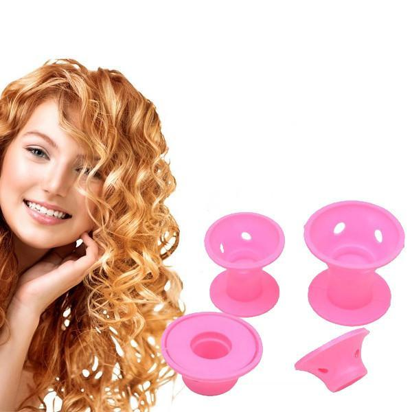 10 Pcs No Clip Silicone Hair Curlers