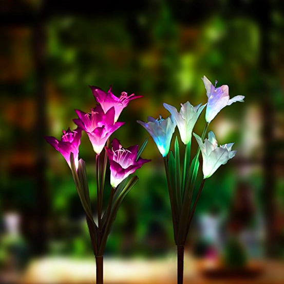 Lily Solar Powered LED Flower - 70% OFF!