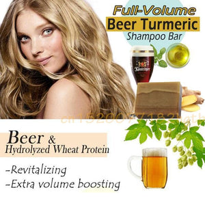 Volume Beer Turmeric Shampoo Bar - 70%OFF!
