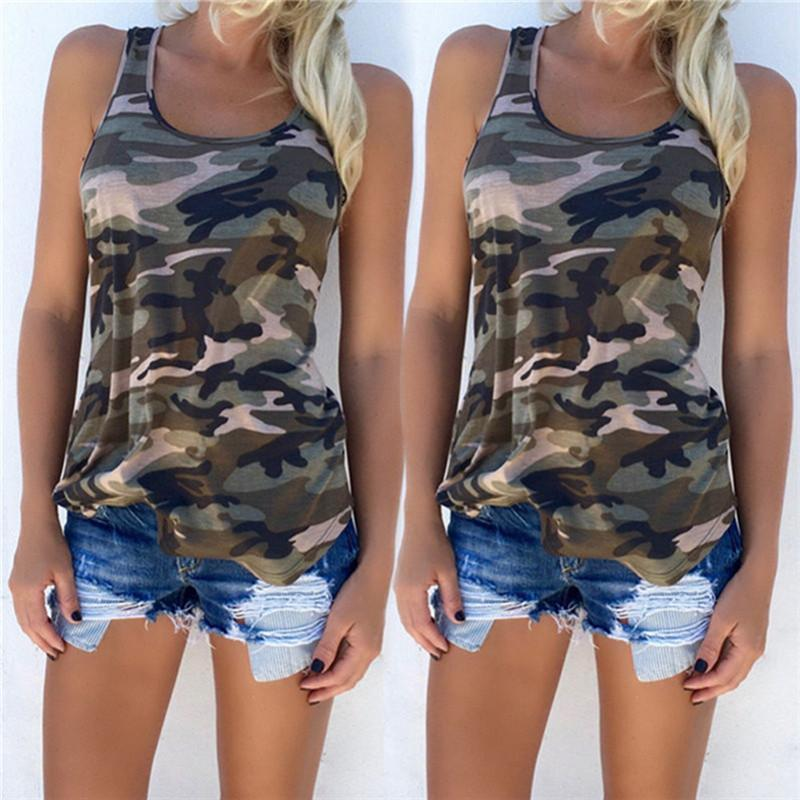 Army Camouflage Off Shoulder Tank - 70% OFF!