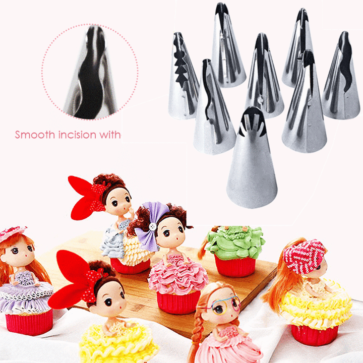 Pastry Decorating Nozzles Set (14PCS) - 70%OFF!