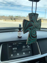 Load image into Gallery viewer, Leather Re-scentable Car Freshener Charms