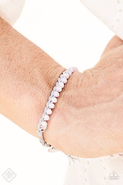 Take A GLINT - Pink Rhinestone Bracelet - Paparazzi Accessories