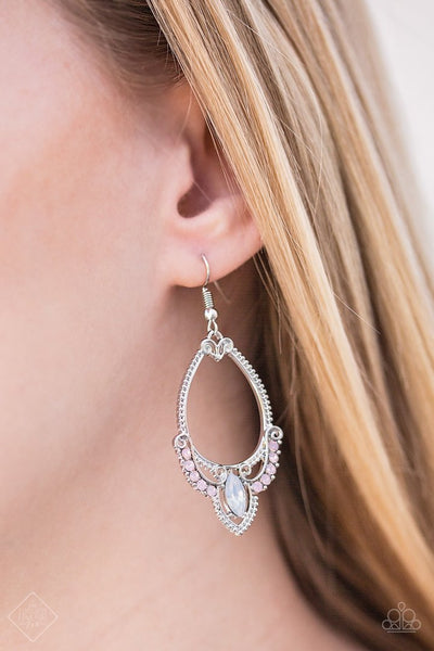 Must Love Luster - Silver Rhinestone Earrings - Paparazzi Accessories