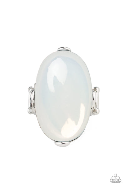 Opal Opulence - White Moonstone Ring - Paparazzi Accessories
