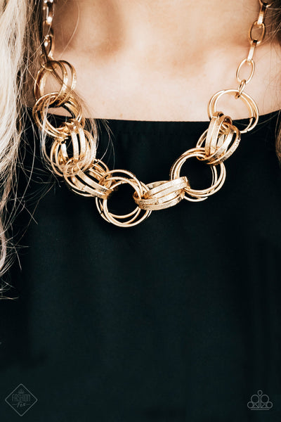 Paparazzi Statement Made Gold Necklace