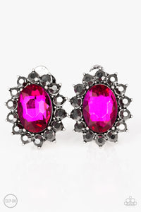 Paparazzi Gala Glamour Clip-On Earrings - Pink