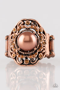 Pearl Princess - Copper Ring - Paparazzi Accessories