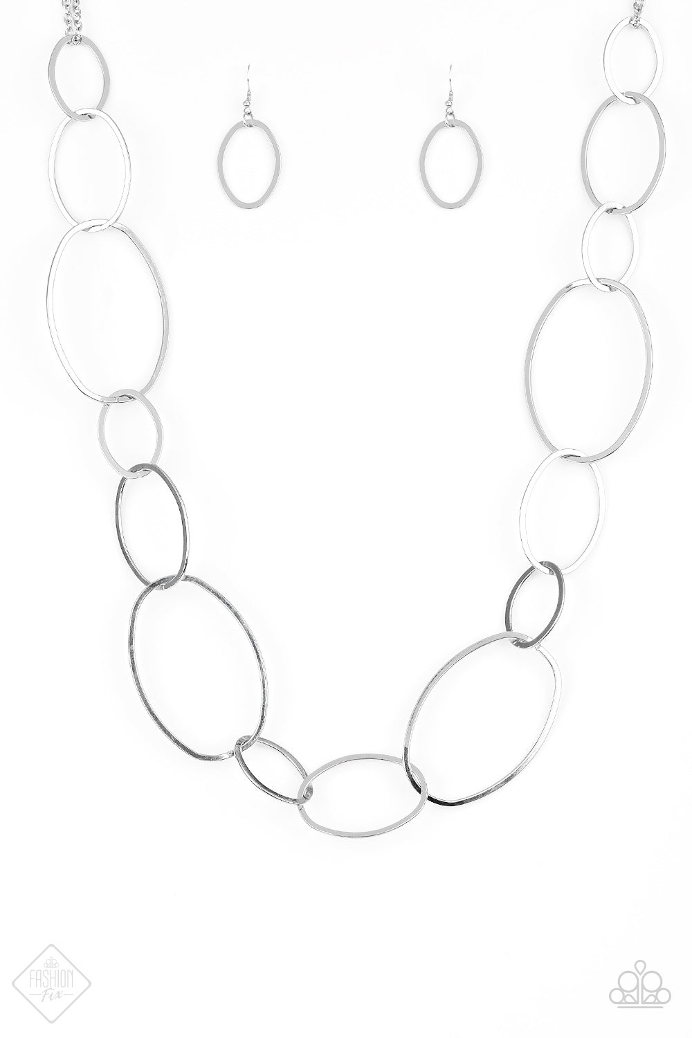 Paparazzi City Circuit Necklace-Silver