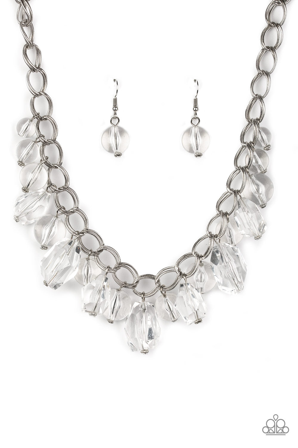 Paparazzi Gorgeously Globetrotter Necklace - White